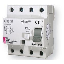 EFI-4AC 25A 300mA áram-védőkapcsoló