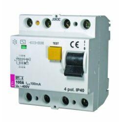 EFI-4AC 100A 100mA áram-védőkapcsoló