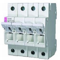 VLD01 10A 3P+N biztosítós szakaszoló kapcsoló