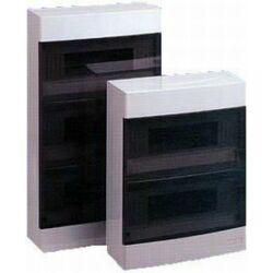 ECT8PO falra szerelhető elosztószekrény, fehér ajtóval