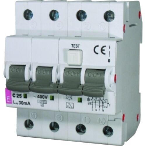 KZS-4M AC 3p B25A 30mA áramvédő kismegszakító