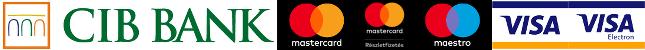 Kártyás fizetés szolgáltatója a CIB Bank, és az általuk elfogadott kártyatípusok.